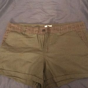 New York and Company Olive green shorts. Brand new